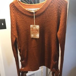 Women's Side Lace Up Sweater